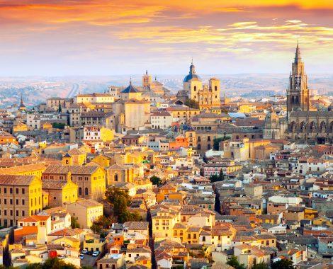 Dawn view of Toledo. Castile–La Mancha,  Spain